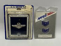 Lot N.S. Meyer Insignia 1966 Shield Star Wings Pin & AAFES Pins Military