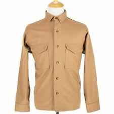 Filson Co. Tan Wool Flannel Top Stitch Two-Pkt Shirt-Jacket Shacket 40US