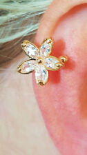 Crystal Copper Costume Earrings