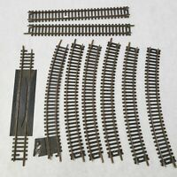 """HO Scale Atlas 9"""" Rerailer Brass Track + 6 pieces of Curve and 2 pieces Straight"""