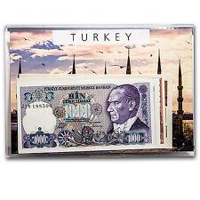 1986-1997 Turkey 1000-100000 Lira Banknote Set Unc - SKU #88153