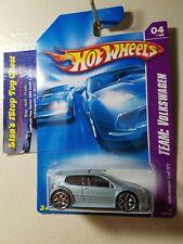 Hot Wheels 2008 TEAM: VOLKSWAGEN Volkswagen Golf GTI Lt. Blue 132/196   B18