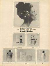 Publicité Advertising 1965  Parfums BALENCIAGA le dix - quadrille