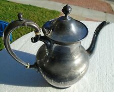 Coffee Tea Pot Reed Barton 9 � Tall Decorative Silver Plate Vintage
