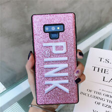 PINK Bling Glitter Embroidery Shockproof Case Cover For Samsung Galaxy Note 9 S8