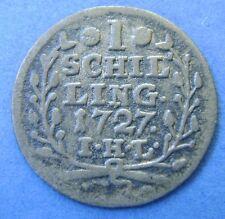 Deutsches Reich 1 Schilling 1727 Hamburg - silver