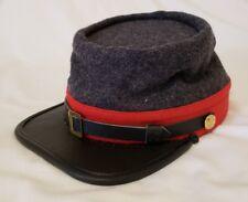 American Civil War Confederate Coastal Fort Defense Artillery Enlisted Kepi Hat