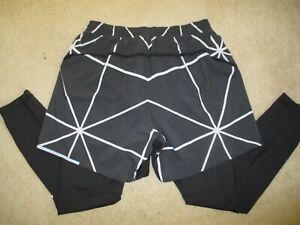 Lululemon Men's Active Expert 2-in-1 Shorts / Tights Size XL, Black