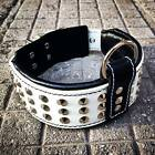 Cuir Véritable main fait collier de chien, clouté, rembourré, haut qualité XS XL