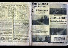 """CONFLANS-SAINTE-HONORINE (78) CULTURE de GRAINES """"Jules JOLLIVET"""" Catalogue 1924"""