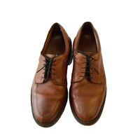 Allen Edmonds Mens Wilbert Oxford Shoes Brown Split Toe Lace Up Leather Size 8 E