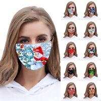 Weihnachten Mund Maske Wiederverwendbare Maske Stoffmaske Waschbar schutz
