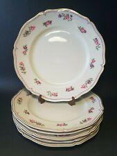 🌹 6 assiettes plates en porcelaine E . Bourgeois le grand dépôt Drouot Paris