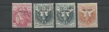 1916 COLONIE ERITREA CROCE ROSSA 4 VALORI MLH*