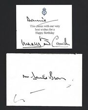 Charles Prince of Wales, Camilla Duchess of Cornwall Signed Card, RARE, JSA LOA