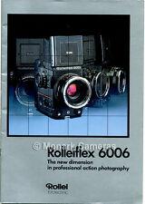 Rollei 6006 Accessorio Obiettivo Fotocamera e BROCHURE DI VENDITA. ulteriori ROLLEIFLEX LIBRI elencati