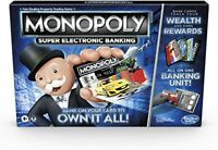 Monopoly Super Electronic Banking Board Game, Electronic Banking Unit - New 2020