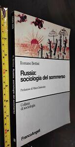 GG LIBRO:  RUSSIA: SOCIOLOGIA DEL SOMMERSO - BETTINI - FRANCOANGELI 2011