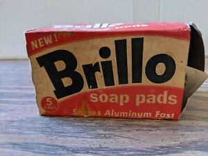 Vintage Opened Box of Brillo Soap Pads