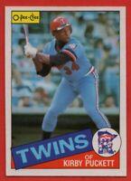 1985 O-PEE-CHEE #10 Kirby Puckett VG-VGEX+ WRINKLE ROOKIE RC Minnesota Twins