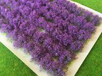 Lavender Flower Bush Tufts -Model Railway Spring Scenery Purple Wargames Plants