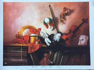 Andrea Cangemi serigrafia ritoccata a mano Studio 11 80x60 firmata numerata