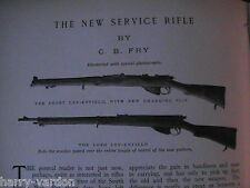 Lee Enfield Service Rifle Short Long Gun Weapon Rare Antique Photo Article 1905