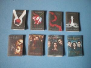 Dolls House miniatures accessories - TWILIGHT SAGA - books and films