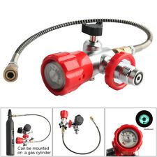 Scuba G5/8 Regulator 4500Psi Air Valve With Hose PCP For Air Tank Diving HPA