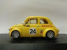FIAT 500 ABARTH GIALLO ATEC 24 PINKO 1:43 - KIT MONTATO NO BOX OTTIMO  -G17- FL