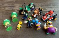 Nintendo Super Mario Bros. Toy Lot: 2017 figures Poppers Wario Keychain KNEX +++