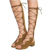 b32da5b4109 Saint Laurent Babies Lace-Up Suede Sandal Gladiator Shoe 37 7 Seen On Jenner