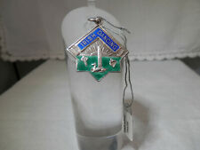 Irish sterling silver enamel medal / fob, SEGAL & SON