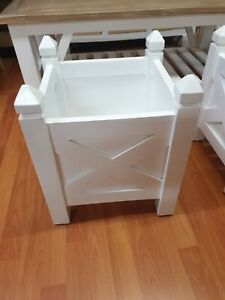 Small Hamptons French provincial white planter box plant holder plant stand