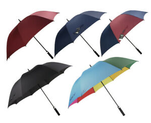 Multiple colors Rain And Shine Large Golf Umbrella Super Windproof