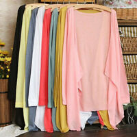 Summer Women Lady Casual Long Thin Cardigan Modal Anti-Sun Clothing Cover Up Top