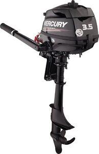 SHORT MARINER MERCURY 3.5hp 4 Stroke Outboard Engine Motor 17Kg Petrol F3.5 hp