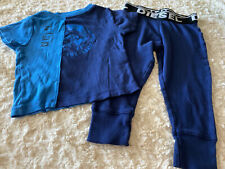 New listing Disel Boys Blue Navy Blue Snug Fit Short Sleeve 2 Piece Pajamas 3T