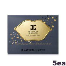 [JAYJUN] Gold Snow Lip Gel Patch Mask 5EA, K-Beauty