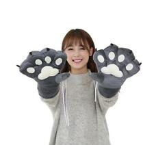 Pair Of Cat Gloves Kitty Fur Paw Claw Cosplay Women Lolita Fancy Dress Costume