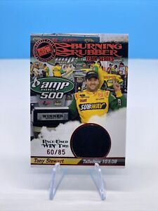 2008 Press Pass Authentic Burning Rubber Tire Win Relic Tony Stewart No. 60/85