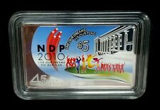2010 Singapore 45 Years of Independence NDP $5 Commemorative Silver Proof Coin