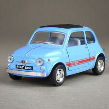 Fiat 500 F Berlina Die-cast Model Car 1:24 Scale Collectible Opening Doors Blue