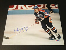 Wayne Gretzky Oilers Signed Auto 11x14 PHOTO PSA/DNA COA Letter