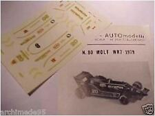 WOLF WR7 F1 1979 1/43 DECALS