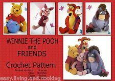 Disney WINNIE THE POOH & FRIENDS Crochet Pattern ~ Best of friends