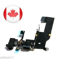 Black Headphone Audio Dock Connector Charging Data USB Port Flex Cable iPhone 5
