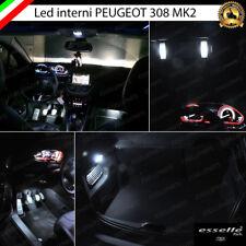 KIT LED INTERNI ABITACOLO COMPLETO PEUGEOT 308 MK2 CANBUS NO ERROR BIANCO 6000K