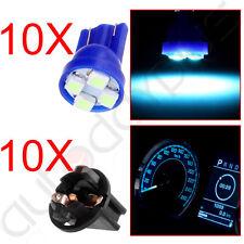 10 x T10 Twist Lock Wedge Indicator Panel Ice Blue Led Dash Light Bulb PC194 New