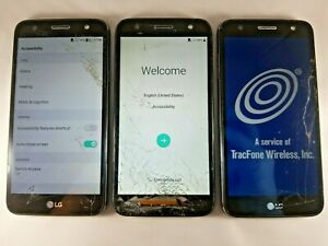 Lot of 3 - Google Locked LG L164VL Fiesta 2 Tracfone *Unknown IMEI*